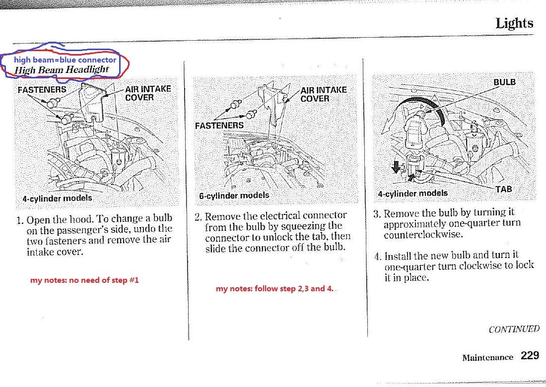 Change Headlight Honda Accord 2004 User Manuals